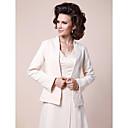 billige Brudesjaler-Sateng Bryllup Fest & Aften Sjal til kvinner With Perlearbeid Frakker / jakker