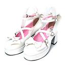 hesapli Lolita Ayak Malzemeleri-Ayakkabılar Sweet Lolita Sweet Lolita / Bağcıklı Yüksek Topuk Ayakkabılar Fiyonk Düğüm 7.5 cm CM Uyumluluk PU Deri / Poliüretan Deri / Poliüretan Deri