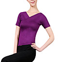 hesapli Fitness, Koşu ve Yoga Kıyafetleri-Üstler Kadın's Suni İpek Kısa Kol