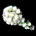 cheap Artificial Flower-Wedding Flowers Cascade Lilies Bouquets Wedding Party/ Evening Satin Pink White Orange