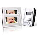 cheap Party Headpieces-Two 7 Inch Color TFT LCD Video Door Phone Intercom System (1 Alloy Camera)