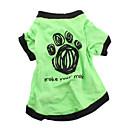 hesapli Köpek Giyimi-Köpek Tişört Köpek Giyimi Harf & Sayı Yeşil Pamuk Kostüm Evcil hayvanlar için Erkek Kadın's Günlük/Sade