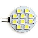 halpa Bi-pin LED-lamput-2 W 160 lm G4 LED-kohdevalaisimet 10 LED-helmet SMD 5050 Neutraali valkoinen 12 V / # / CE
