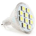 cheap LED Spot Lights-1W 50-80lm GU4(MR11) LED Spotlight MR11 10 LED Beads SMD 5050 Natural White 12V