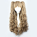 cheap Lolita Wigs-Lolita Wigs Sweet Lolita Dress Yellow Lolita Lolita Wig 70 CM Cosplay Wigs Solid Wig For