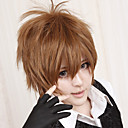 cheap Anime Cosplay Wigs-Cosplay Wigs Reborn! Tsunayoshi Sawada Brown Anime Cosplay Wigs 12 inch Heat Resistant Fiber Men's Halloween Wigs
