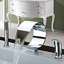 abordables Grifos de Lavabo-Grifo de bañera - Moderno Cromo Bañera romana Válvula Cerámica