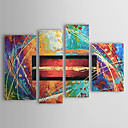 cheap Top Artists' Oil paitings-Hand-Painted Abstract Any Shape Four Panels Canvas Oil Painting For Home Decoration