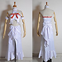 preiswerte Anime-Kostüme-Inspiriert von Sword Art Online Asuna Yuuki Anime Cosplay Kostüme Cosplay Kostüme Patchwork Ärmellos Top Kleid Armreif Für Damen