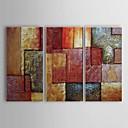 billige Kakedekorasjoner-Håndmalte Abstrakt Vannrett Lerret Hang malte oljemaleri Hjem Dekor Tre Paneler