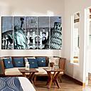 billige Lerretklokker-moderne scenisk lerret veggklokke 5stk K024