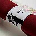 billige Smartklokke Tilbehør-Bryllup Servietter - 50pcs Serviett Ringe Bryllup jubileum Forlovelsesfest Utdrikningslag Klassisk Tema