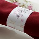 halpa Hääkoristeet-Häät Napkins - 50pcs Servet Ring Häät Vuosipäivä Syntymäpäivä Kihlajaisjuhla Polttarit Quinceañera & Sweet Sixteen Kukkais-teema
