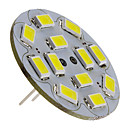 baratos Luzes LED de Dois Pinos-3 W 250 lm G4 Lâmpadas de Foco de LED 12 Contas LED SMD 5730 Branco Natural 12 V
