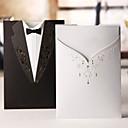 """preiswerte Hochzeitseinladungen-Hülle & Taschenformat Hochzeits-Einladungen Einladungskarten Klassicher Stil Kartonpapier 7 1/5""""×5"""" (18.4*12.8cm)"""