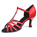 cheap Jewelry Sets-Women's Latin Shoes / Salsa Shoes / Performance Heel Buckle Customized Heel Customizable Dance Shoes Red