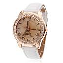 baratos Brincos-Mulheres Relógio de Moda Quartzo PU Banda Analógico Torre Eiffel Branco