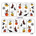 cheap Nail Stamping-1 pcs Water Transfer Sticker / 3D Nail Stickers Cartoon / Fashion Lovely Daily Nail Art Design / PVC(PolyVinyl Chloride)