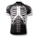 cheap Handlebars & Stems-SPAKCT Men's Short Sleeve Cycling Jersey Skull Bike Jersey, Quick Dry, Breathable Polyester