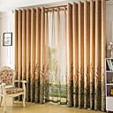 preiswerte Parykopfbedeckungen-Vorhänge drapiert Wohnzimmer 100% Polyester / Polyester Druck