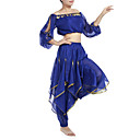 cheap Kids' Dancewear-Belly Dance Outfits Women's Chiffon Beading / Sequin / Coin 22.44inch(57cm) Natural / Performance