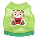 cheap Dog Clothes-Dog Shirt / T-Shirt Dog Clothes Cartoon Green Cotton Costume For Pets