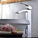 povoljno Slavine za umivaonik-Suvremena Nadgradni umivaonik Waterfall Keramičke ventila One Hole Jedan Ručka jedna rupa Chrome, Kupaonica Sudoper pipa