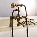 رخيصةأون حنفيات الدوش-حنفية دش / حنفية حوض الاستحمام - أنتيك النحاس الأصفر العتيق حوض استحمام ودش صمام سيراميكي