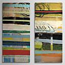 זול ציורי שמן-מצויר ביד מופשט שני פנלים בד ציור שמן צבוע-Hang For קישוט הבית