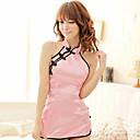 cheap Uniforms Accessories-Uniforms Cosplay Costume Women's Sexy Uniforms Halloween Carnival New Year Festival / Holiday Satin Outfits Pink Solid Colored