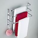 baratos Suportes de Escova de Dentes-Barra para Toalha Moderna Latão 1 Pça. - Banho do hotel Barra de 3 toalhas