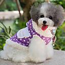 abordables Ropa para Perro-Perro Abrigos Ropa para Perro A Lunares Morado Rosa Algodón Disfraz Para mascotas