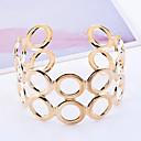cheap Bracelets-Men's Hollow Cuff Bracelet - Gold Plated Unique Design, Fashion Bracelet Golden For Christmas Gifts / Party / Daily