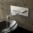 abordables Grifos de Ducha-Contemporáneo del diseño especial de vidrio cascada baño grifo del fregadero