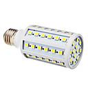 hesapli LED Ampuller-BRELONG® 1pc 12 W 250 lm E26 / E27 LED Mısır Işıklar T 60 LED Boncuklar SMD 5050 Serin Beyaz 220-240 V