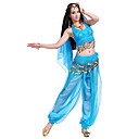 cheap Historical & Vintage Costumes-Belly Dance Outfits Women's Performance Chiffon Beading / Sequin / Coin Sleeveless Top / Pants / Headwear
