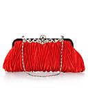 baratos Clutches & Bolsas de Noite-Mulheres Bolsas Poliéster Bolsa de Festa Cristal / Strass Vermelho / Rosa claro / Vinho