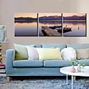 ieftine Lumini de Rulare Zi-Imprimeu pânză întins Set Canava Peisaj Clasic Modern, Trei Panouri Orizontal Imprimeu Decor de perete Pagina de decorare