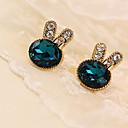 ieftine Cercei la Modă-Pentru femei Cristal Cercei Stud - Cristal, Ștras, Diamante Artificiale Plin de graţie Verde Pentru Zilnic / Casual
