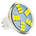 halpa Bi-pin LED-lamput-420 lm LED-kohdevalaisimet MR11 15 LED-helmet SMD 5630 Kylmä valkoinen 12 V / #