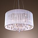 preiswerte Kronleuchter-4-Licht Drum Pendelleuchten Raumbeleuchtung Galvanisierung Metall Kristall 110-120V / 220-240V Glühbirne nicht inklusive / E12 / E14