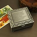 billige Bryllupsgaver-personlig tinn legering minnesmerke boks