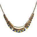 preiswerte Modische Ohrringe-Damen Halsketten / Vintage Halskette - Modisch Blau / Gelb Modische Halsketten Schmuck Für Party, Alltag