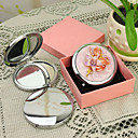 ieftine Noutatile personalizate-Personalizate cadouri Floral Stil Pink Chrome Compact Mirror