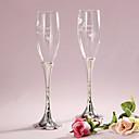 preiswerte Servier Sets-Bleifreies Glas Toasten Flöten Geschenkbox Blumen Frühling
