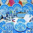 cheap Party Supplies-Birthday Baby Shower Party Tableware - Horns Hats Tableware Sets High Quality Paper Fairytale Theme