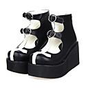 preiswerte Latein Schuhe-Schuhe Gothik Lolita Plattform Schuhe Patchwork 8 CM Für PU - Leder/Polyurethan Leder