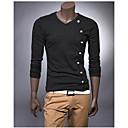 billige Motearmbånd-Bomull T-skjorte Herre - Ensfarget / Langermet