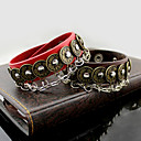 cheap Men's Necklaces-Leather Bracelet - Leather Bracelet Black / Coffee / Red For Party Daily Casual