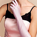 cheap Party Gloves-Spandex / Cotton Wrist Length / Elbow Length Glove Charm / Stylish / Bridal Gloves With Embroidery / Solid